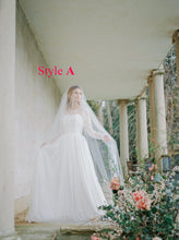 Two Piece Wedding Dresses A Line Ivory Floor-length Chic Lace Long Sleeve Bridal Gown JKW331|Annapromdress