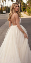 Backless Wedding Dresses A-line Spaghetti Straps Romantic Open Back Bridal Gown JKW353|Annapromdress