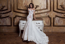 Romantic Wedding Dresses Off-the-shoulder Mermaid Trumpet Sweep Train Lace Bridal Gown JKW368|Annapromdress