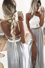 Prom Dress White Silver Two Pieces Long Prom Dress/Evening Dress #JKL028