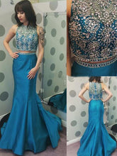 sexy prom dresses Trumpet Mermaid Scoop Floor-length Taffeta Prom Dress Evening Dress MK036
