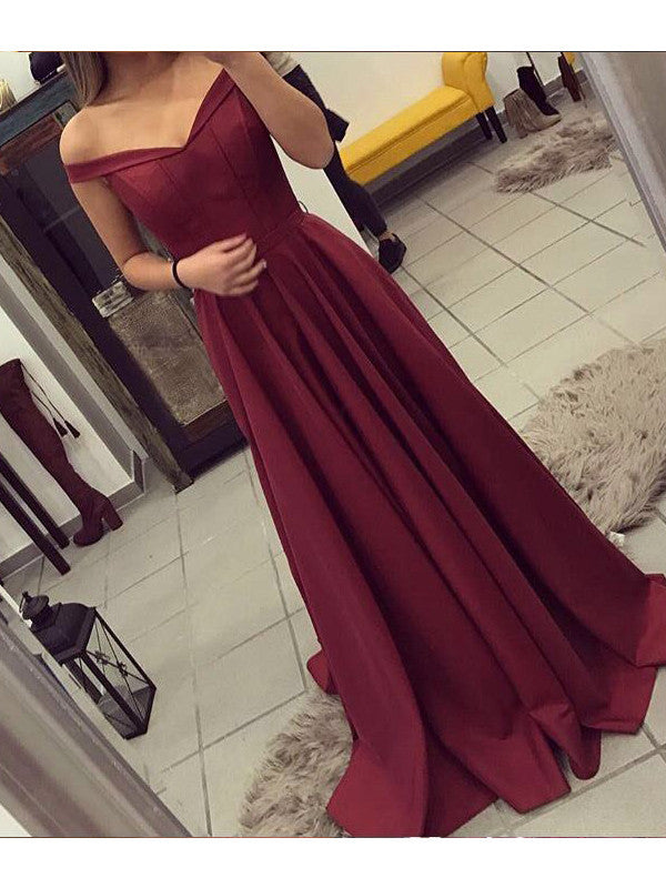 Sexy prom dress A-line  Off-the-shoulder V-neck 2017 Long Prom Dress Evening Dress MK0518