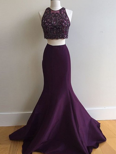 prom dresses long A-line Spaghetti Straps Floor-length Tulle Prom Dress/Evening Dress #MK089