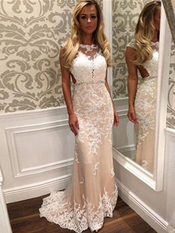 2017 Long Tight Sheath Floor-length Tulle Prom Dress Evening Dresses ...
