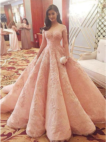 A-line Off-the-shoulder Floor-length Tulle Prom Dress Evening Dress MK186|Annapromdress