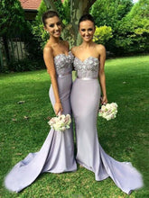 long prom dresses Sheath Column Sweetheart Sweep Brush Train Chiffon Prom Dress Evening Dress MK190