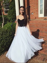 prom dresses long A-line Spaghetti Straps Floor-length Chiffon Prom Dress Evening Dress MK259