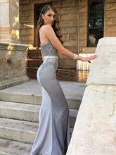 Sweetheart Bridesmaid Dress Mermaid Long Silver Prom Dress Bridesmaid Dress MK505
