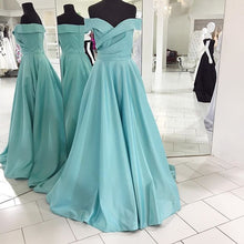 Elegant Prom Dress Off the shoulder Long A-line Ruffle Prom Dress Evening Dress MK525
