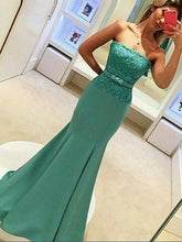 Elegant Evening Dress Strapless Mermaid Long Formal Prom Dress Evening Dress MK560