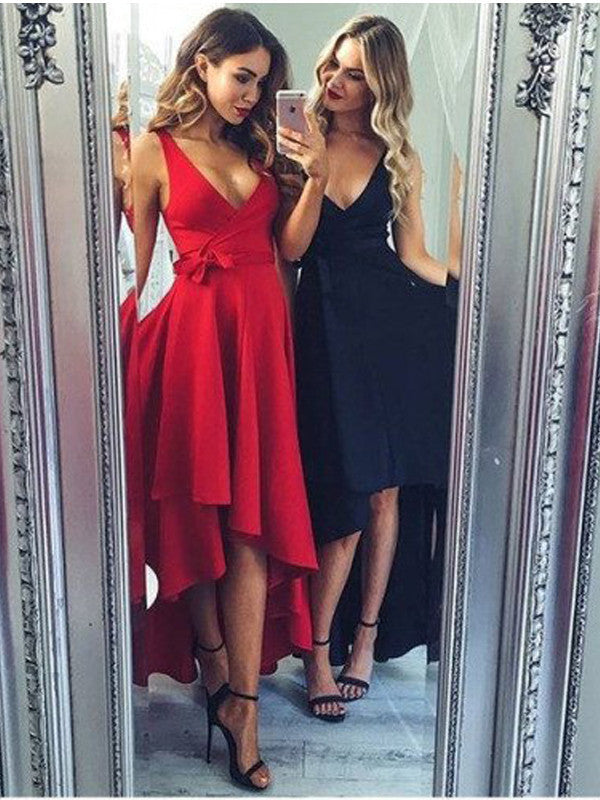 High Low Short Prom Dress 2017  A-line Simple Homecoming Dress Party Dress MK583