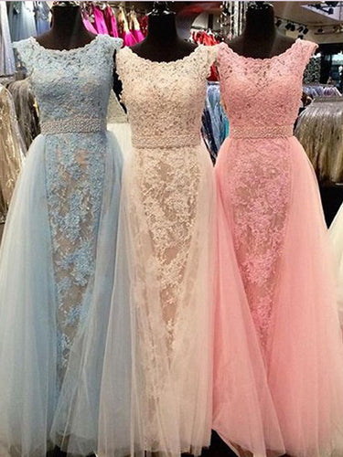 Gorgeous Appliques Prom Dress Long Chiffon Tulle Prom Dress/Evening Dress MK590