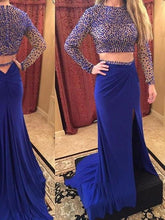 Royal Blue prom dress 2017 Long Prom Dress Strapless Sheath Prom Dress/Evening Dress MK592