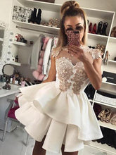 Chic Appliques Homecoming Dress High Neck Short Prom Dress 2019 Party Gown NA6919|Annapromdress
