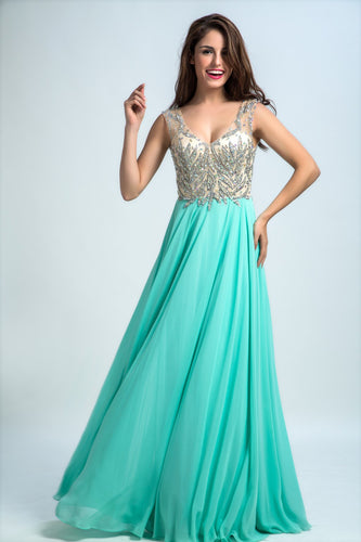 Prom Dresses Long A-line Floor-length Chiffon Prom Dress/Evening Dress AMY030