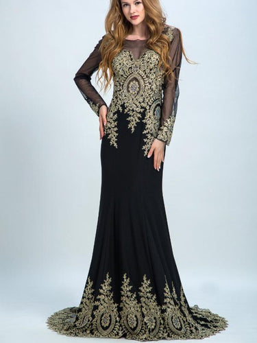 Sexy Prom Dresses Long Black Trumpet/Mermaid Chiffon Prom Dress/Evening Dress AMY034