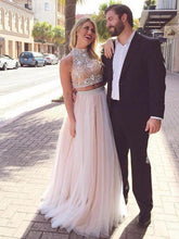 Two Pieces Prom Dresses,Long Prom Dress 2018 A-line annapromdress