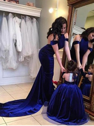 Royal Blue Halter Mermaid Prom Dress Backless 2019 Sweep/Brush Prom/Evening Dress YSF713|Annapromdress