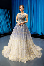 Ball Gown Strapless Sparkly Prom Dress Long Brush/Sweep Train Prom/Evening Dress YSR0017|annapromdress