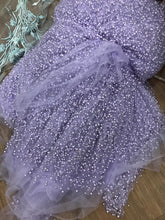 Sexy Spaghetti Straps Peal Long Prom Dress with Slit Lavender Modest Tulle Prom Evening Gown YSR213|annapromdress