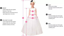2018 Flower Girl Dresses Long A-line Lace Ivory Bowknot Chiffon JKF034
