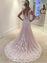 Lace Appliqued Bridal Wedding Gowns,Sheath Wedding Dresses NA2002