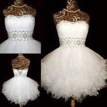 Ball Gown White A-line Sweetheart Homecoming Dress Short Prom Dresses SP8137