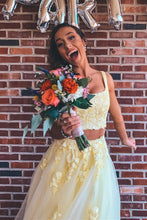 Yellow Long Prom Dress