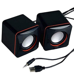 1pair Portable Mini Stereo Speaker USB 3.5 mm Audio Jack Laptop Desktop Computer Loudspeaker