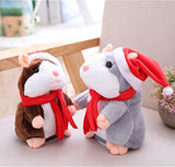 weispo Talking Hamster Plush Toy Repeat What You Say Electronic Pet Christmas Talking Plush Buddy Mouse Interactive Toys Early Learning Gift for Child Kids
