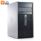 "HP Desktop Computer Bundle with Intel Core 2 Duo Processor 4GB of RAM DVD 300Mps Wifi with a 17"" LCD and Windows 10"