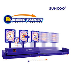 SUNCOO Running Targets Shooting Electronic Scoring Auto Reset Digital Targets for Nerf Guns Toys(2019 New Version)