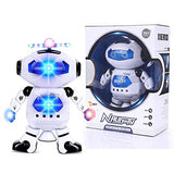Galactic Robot Dancing Robot - Musical and Colorful Flashing Lights Kids Fun Toy Figure - Spins and Side Steps