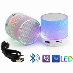 FREE Wireless Mini LED Bluetooth Speakers Wireless Music Audio TF USB  Subwoofer with Mic
