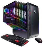 CYBERPOWERPC Gamer Master Gaming PC, AMD Ryzen 5 1600 3.2GHz, AMD Radeon RX 580 4GB, 8GB DDR4, 480GB SSD, WiFi Ready & Win 10 Home (GMA8980CPG, Black)