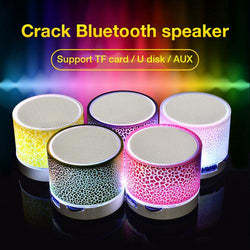 FREE Bluetooth Speaker Mini Wireless Loudspeaker Crack LED TF USB Subwoofer bluetooth Speakers mp3 stereo audio music player