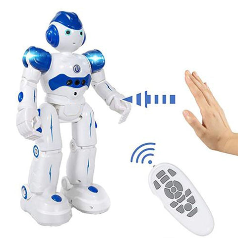 Educational Intelligent RC Robot Toys For Children USB Charging Remote Control Programmable Robotics Toy Kids Birthday Gifts