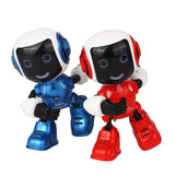 Electric LED Sound Intelligent Alloy Robot Toys Novelty Phone Stand For Kids(blue)