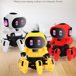 Electric Six claw Robot Toy Arming Swing Dancing Fish Small Music Children Shaking Toys With Lights Toy