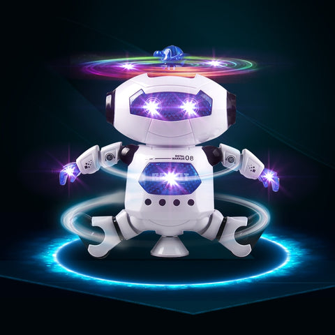 Fun 360 Rotating Dancing Robot Electronic Toy With Music Lighting Walking