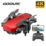 GOOLRC LF606 Mini Drone with 4K Camera HD Foldable Drones One Key Return FPV Quadcopter Follow Me RC Helicopter Quadrocopter Toy