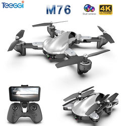 Foldable Professional RC Drone with 4K 1080P HD Camera WiFi FPV Optical Flow RC Quadrocopter Kids Toys