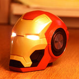 Mini Iron Man Wireless Speaker Powerful Portable Computer Speakers Novel  Gift Practical Radio Music Center Drop Shipping