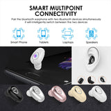 Mini Universal Wireless Bluetooth Invisible In Ear Earbud Earphones with 3D Stereo Surround Bass Sound For Smart Phone Speaker