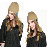 New Fashion Beanie Hat Cap Wireless Bluetooth Earphone Smart Headset headphone Speaker Mic Winter Outdoor Sport Stereo Music Hat