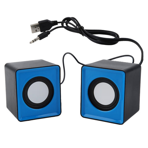 Portable Speaker Mini USB 2.0 Speakers Music Stereo for Computer Desktop PC Laptop Notebook Home Theater