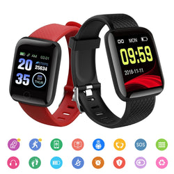 Smart Watches 116 Plus Heart Rate Watch Smart Wristband Sports Watches Smart Band Waterproof Smartwatch Android All Compatible