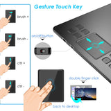 Graphic Drawing Tablet Drawing 10x6 inch for beginner with 8 express keys and P002 stylus no batteries and charging Free Shipping