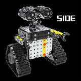 Wall e Robot Assembling Toy Stainless Steel Model Tile Robot Sliding Block Building Mounted Robot Toy for Children Boy Gifts