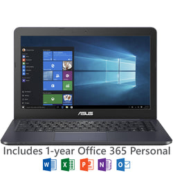 "ASUS L402 14"" Laptop, Windows 10, Office 365 Personal 1-year included, Intel"